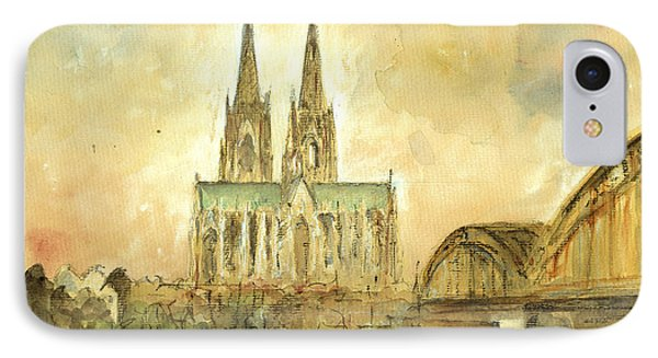 Cologne Cathedral IPhone Case by Juan  Bosco