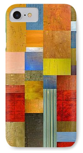 Color Panels With Green Grass Phone Case by Michelle Calkins