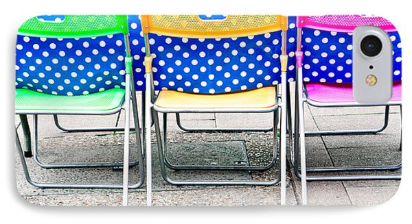 Colorful Chairs IPhone Case by Tom Gowanlock