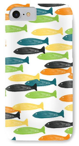 Colorful Fish  IPhone 7 Case by Linda Woods