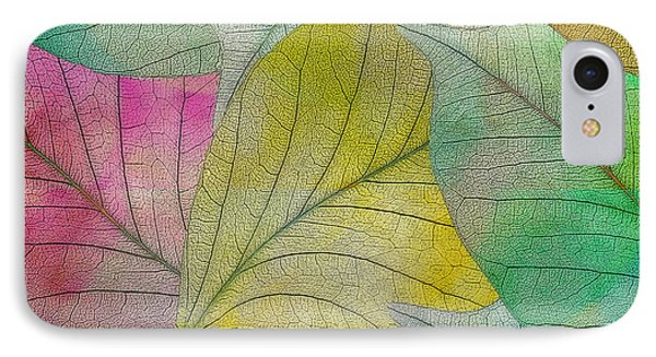 IPhone Case featuring the digital art Colorful Leaves by Klara Acel