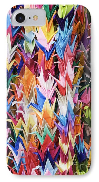 Colorful Origami Cranes Phone Case by Jeremy Woodhouse