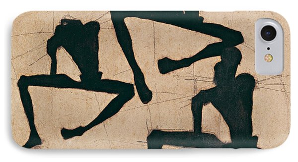 Composition With Three Male Nudes IPhone Case by Egon Schiele