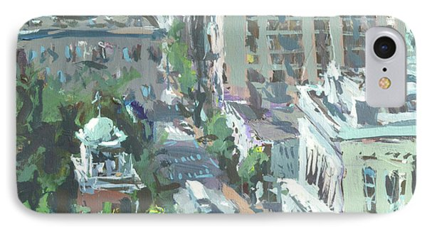 IPhone Case featuring the painting Contemporary Richmond Virginia Cityscape Painting by Robert Joyner