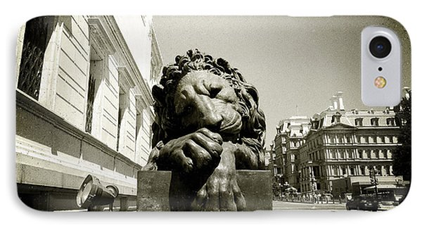 IPhone Case featuring the photograph Corcoran Lion by Victoria Lakes