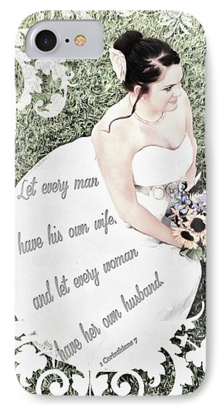 1 Corinthians 7 2 Phone Case by Michelle Greene Wheeler
