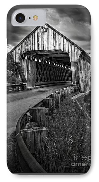 Covered Bridge IPhone Case by Edward Fielding
