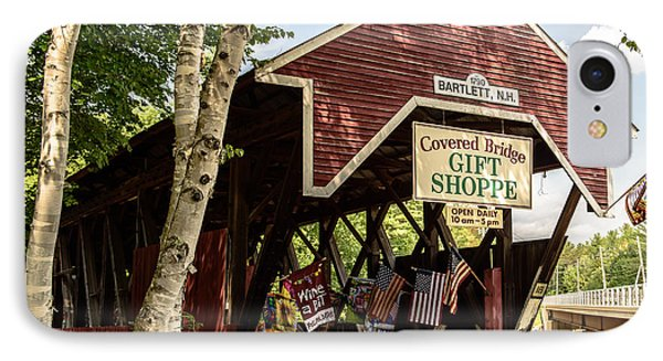 Covered Bridge Gift Shoppe IPhone Case by Sherman Perry