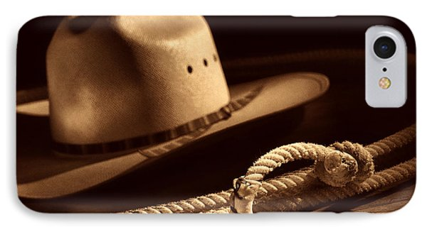 Cowboy Hat And Lasso IPhone Case by American West Legend By Olivier Le Queinec
