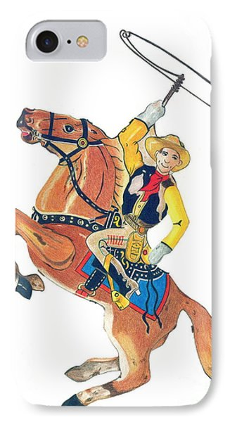 Cowboy With Lasso IPhone Case