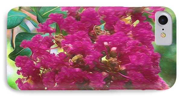 Crepe Myrtle  IPhone Case by Richard Rizzo