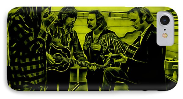 Crosby Stills Nash And Young IPhone Case by Marvin Blaine