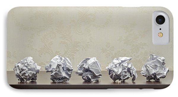 Crumpled Paper Balls IPhone Case by Alain De Maximy