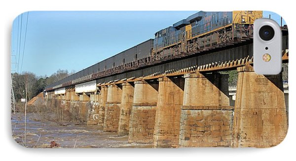 Csx Coal Train On A Bridge IPhone Case