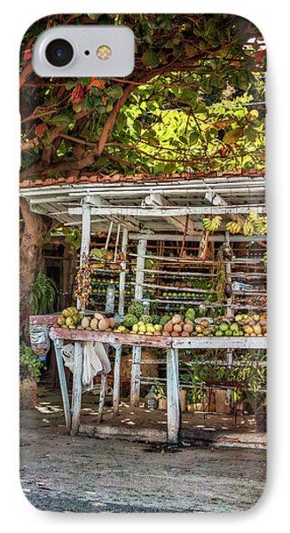 IPhone Case featuring the photograph Cuban Fruit Stand by Joan Carroll