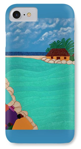 Curacao Lagoon IPhone Case by Synthia SAINT JAMES