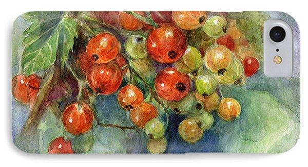 Currants Berries Painting IPhone Case by Svetlana Novikova