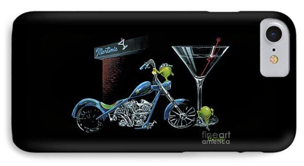 Motorcycle iPhone 7 Case - Custom Martini by Michael Godard