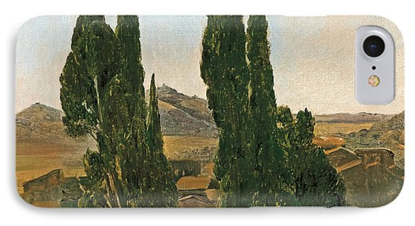 Cypress Trees At The Villa D'este IPhone Case