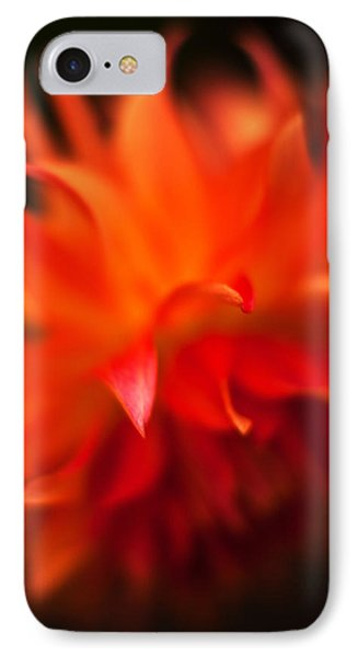 Dahlia Flame IPhone Case by Mike Reid