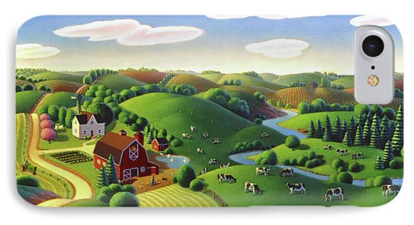 Dairy Farm  IPhone Case by Robin Moline