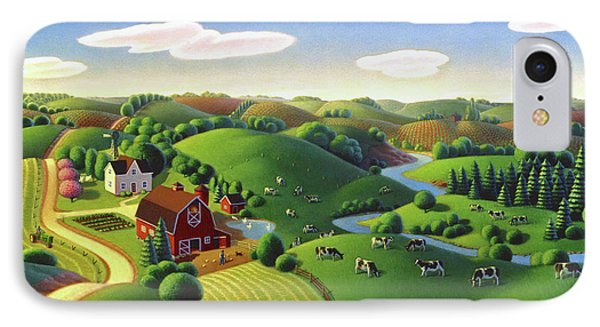 IPhone Case featuring the painting Dairy Farm  by Robin Moline