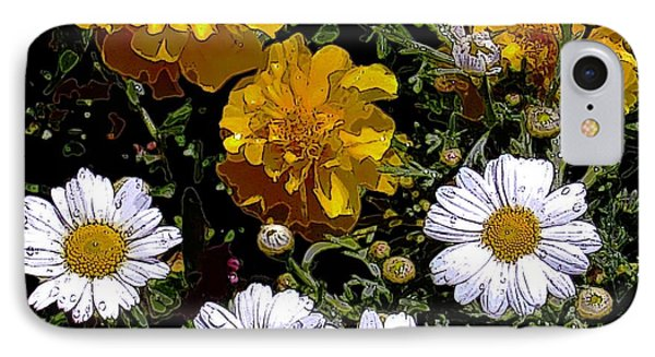 Daisies And Marigolds IPhone Case by Dale   Ford