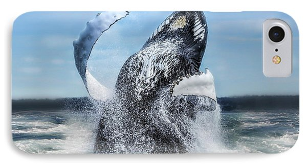 Dances With Whales Phone Case by Nancy Dempsey