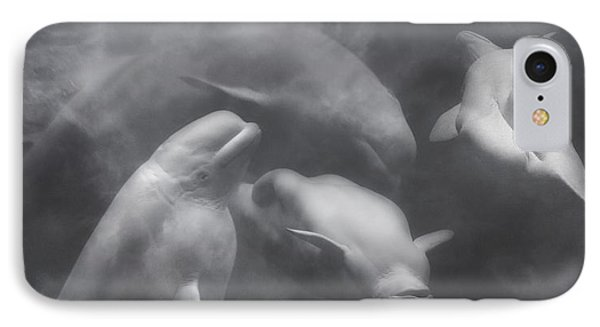 Dancing Belugas  IPhone 7 Case by Betsy Knapp