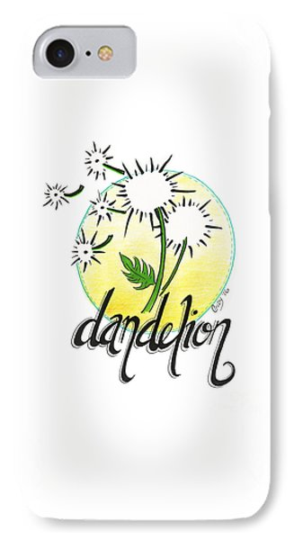 IPhone Case featuring the drawing Dandelion by Cindy Garber Iverson