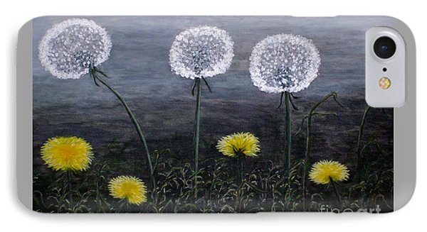IPhone Case featuring the painting Dandelion Family by Judy Kirouac