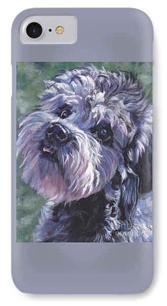 IPhone Case featuring the painting Dandie Dinmont Terrier by Lee Ann Shepard