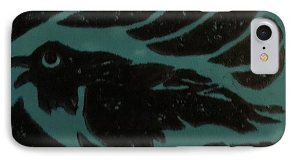 Darcy's Crow IPhone Case by Erika Chamberlin