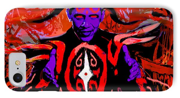 Dark Obamatar IPhone Case by Andrew Kaupe