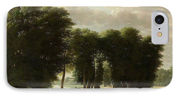 De Ingang Van Het Park Van St Cloud Te Parijs IPhone Case by Pieter Rudolph