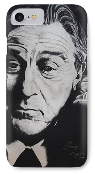 De Niro IPhone Case by Charles Rogers