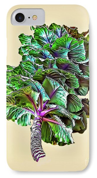 IPhone Case featuring the photograph Decorative Cabbage by Walt Foegelle