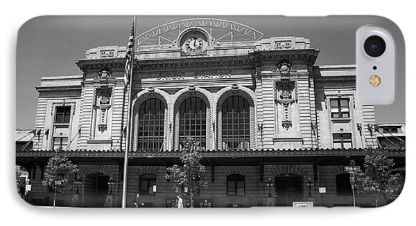 Denver - Union Station Film IPhone Case by Frank Romeo