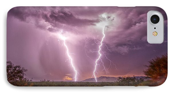 IPhone Case featuring the photograph Desert Fire by James Menzies