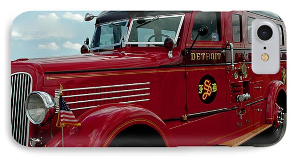 Detroit Fire Truck IPhone Case