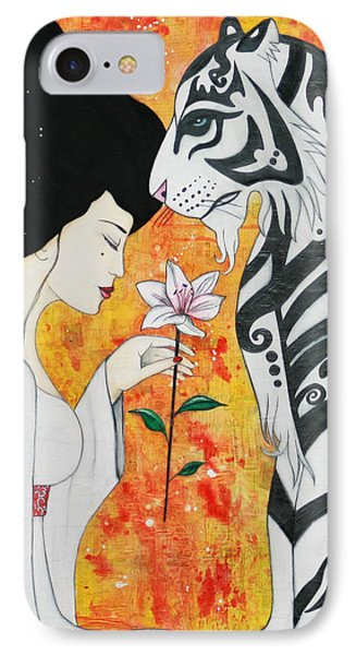 IPhone Case featuring the mixed media Devoted by Natalie Briney