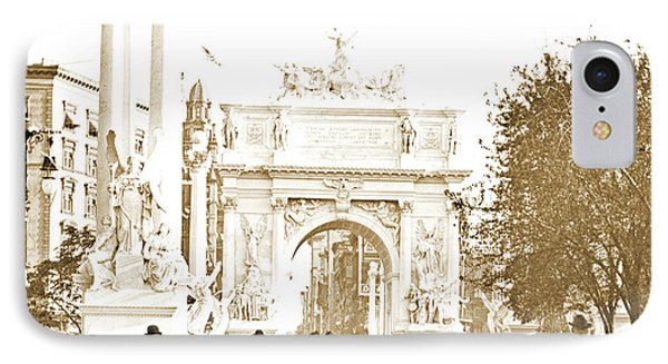 Dewey's Arch, New York City, 1900, Vintage Photograph IPhone Case by A Gurmankin