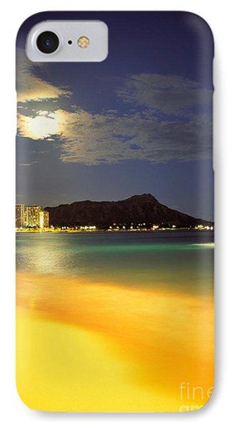 Diamond Head And Waikiki Phone Case by William Waterfall - Printscapes