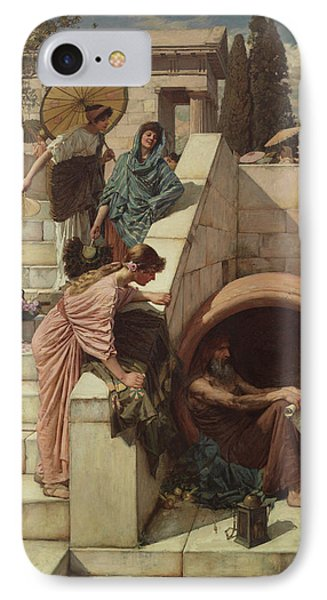 Diogenes IPhone Case by John William Waterhouse
