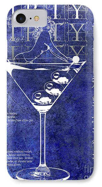 Dirty Dirty Martini Patent Blue IPhone 7 Case