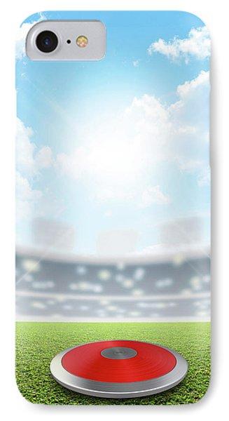 Discus Stadium And Green Turf IPhone Case