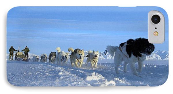 Dogsledge, Northern Greenland IPhone Case by Louise Murray
