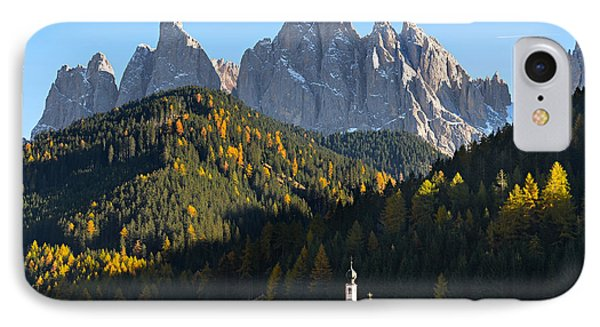Dolomites Mountain Church IPhone Case by IPics Photography