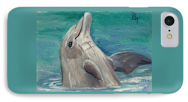 Dolphin Aceo IPhone Case by Brenda Thour