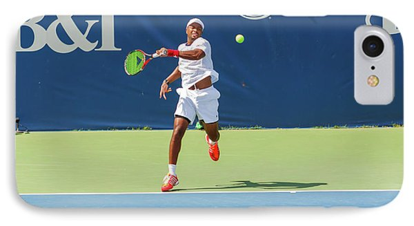 Donald Young Plays In The Winston-salem Open. IPhone Case
